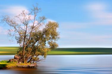 Bild mit Natur, Wasser, Landschaften, Himmel, Bäume, Sonne, Baum, Berlin, Landschaft, Fluss, grunewald, havel