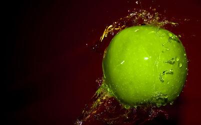 Bild mit Apfel