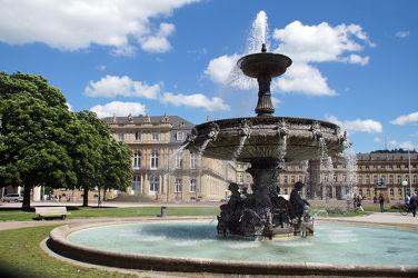 Bild mit Wasser, Architektur, Gebäude, Schloss, Brunnen, Prunkbrunnen