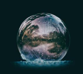 Bild mit Winter, Eis, Seifenblasen, Blasen, Seifenblase, Winterzeit, Kälte, Frost, gefroren, Blase, Ice Bubble