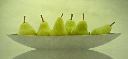 Bild mit Obst, Birne, Birnen, Küchenbild, Stillleben, Küchenbilder, KITCHEN, Küche