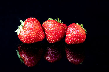 Bild mit Früchte, Rot, Beeren, Obst, Erdbeeren, Fragaria, Rosoideae, Rosaceae, Rosengewächse, Ernte, garten, Ernährung, Gattung, Anbau, Fragaria vesca, großfrüchtig, oktoploid, Gartenerdbeere, Sammelfrüchte
