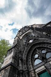 Bild mit Stein, Gebäudeteile, Fenster, Kirche, Perspektive, Historische Gebäude, turm, Kirchengebäude, Ornamente, Historisch, ruine, Gitter, Sakralbau, aufwärts, Bochum