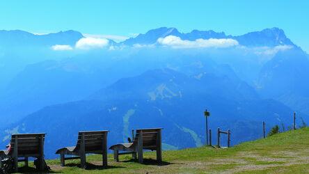Bild mit Landschaften, Berge, Deutschland, Sommer, Sonne, Alpen, Sonnenschein, Ruhe, Wanderungen, Erholung, Freistaat Bayern, Fernblick