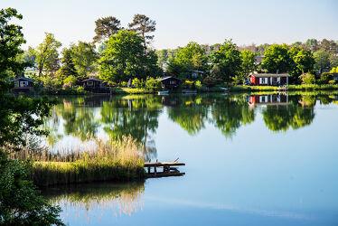 Bild mit Natur, Wasser, Pflanzen, Bäume, Sommer, See, Ruhe, Wochenende, Siedlung, Entspanung