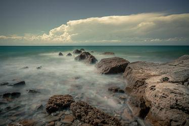 Bild mit Wolken, Italien, Panorama, Meer, Landschaften & Natur, mediteran, blauewasser, adriatischesee