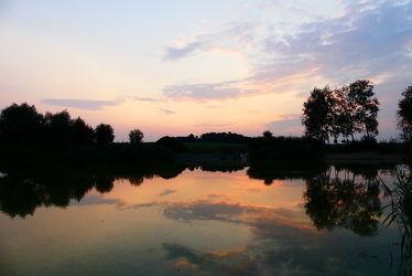 Bild mit Wasser, Wolken, Seen, Abendrot, Wasserspiegelung