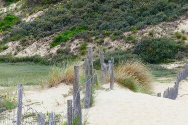 Bild mit Natur, Sand, Dünen, Dünengras, Naturschutzgebiet, Zaun