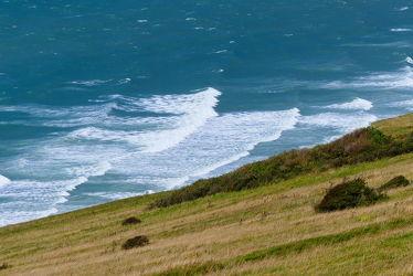 Bild mit Natur, Gräser, Wellen, Meer, Wiese, Küste
