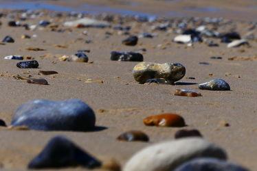 Bild mit Meere, Sand, Strand, Steine, Ebbe