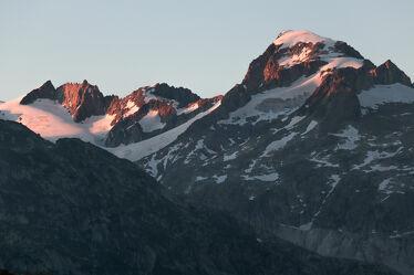 Berge im Abendglühen