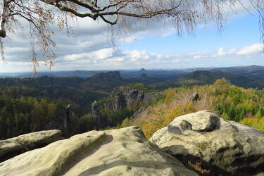 Bild mit Natur, Berge, Herbst, Landschaft, Elbsandsteingebirge, Wandern, elbsandstein