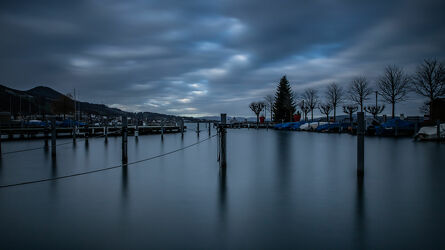 Bild mit Gewässer, Seen, Wasserblick, Abenddämmerung