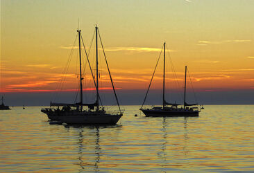 Sonnenuntergang an der Adria
