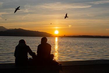 Bild mit Sonnenuntergang, Sonnen Himmel, Seeblick, Sonnenuntergänge, LIEBE/LOVE, Sonnenauf/untergang, Sonnenuntergang/Sonnenaufgang, Liebe, verliebt