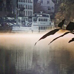 Bild mit Gewässer, Schifffahrt, Morgenstimmung, Nebelauflösung