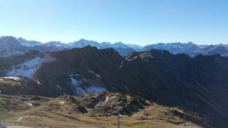 Bild mit Alpen, Alpenland, Alpen Panorama, Blauer Himmel, Blauer Himmel mit Gegenlicht, Allgäuer Alpen