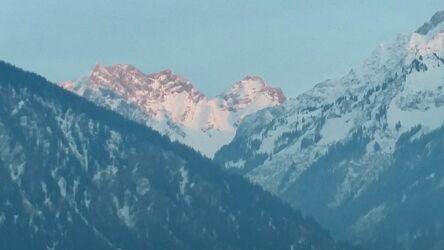 Bild mit Berge, Himmel Panorama, Schneelandschaften, Schnee in den Bergen, Schneefelder