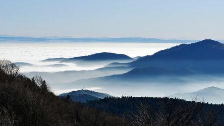Bild mit Natur, Berge und Hügel, Himmel, Wälder, Nebel, Gebirgskette, Frankreich, Stimmung, schweizeralpen, Landscaften & Stimmungen, Vogesen