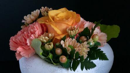 Bild mit Natur, Pflanzen, Rosa, Rosen, Blätter, nelken, macro, Kunstvoll, Arrangement