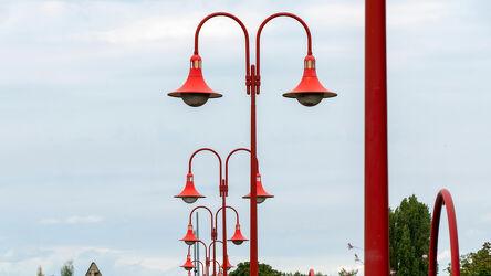 Bild mit Natur, Himmel, Bäume, Rot, Perspektive, Park, Beleuchtung