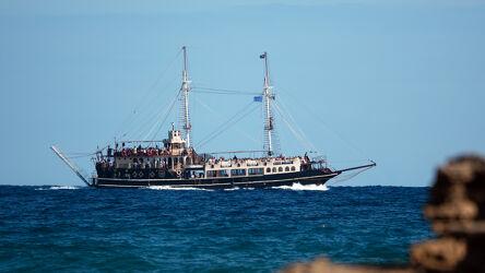 Bild mit Wellen, Tageslicht, Schiff, Meer, Ferien, Blauer Himmel, Details, Stimmung, Passagiere, Rundreise