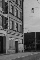 Bild mit Städte, Straßen, Stadt, Stadt Görlitz, Görlitz, Görlitz und Umgebung, schwarz weiß, SW, Berliner Straße