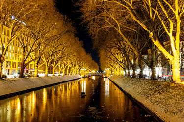 Bild mit Winter, Eis, Wassergräben, Gräben, Düsseldorf, KÖ
