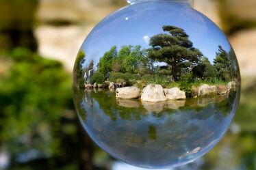 Bild mit Natur, Wasser, Gewässer, garten, japanisch, glaskugel, Düsseldorf