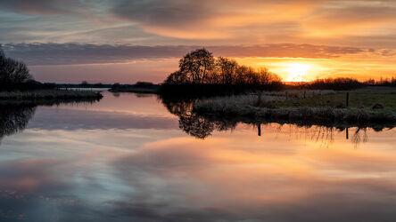 Sonnenaufgang im Teufelsmoor bei Worpswede