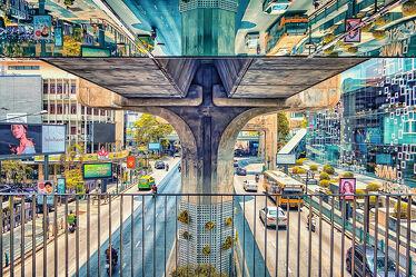 Bild mit Kunstwerk, Spiegelung, Raum Reflektion, asien, südostasien, Poster, Thailand, Bangkok