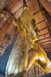 Bild mit Buddha, südostasien, Tempelanlagen, Religion, BUDDHASTATUE, goldene Stimmung, Thailand, Bangkok, wat pho