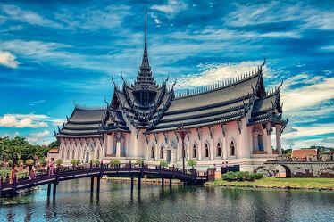 Bild mit Kunst, Kunstwerk, asien, südostasien, Tempelanlagen, Religion, Palast, Königspalast