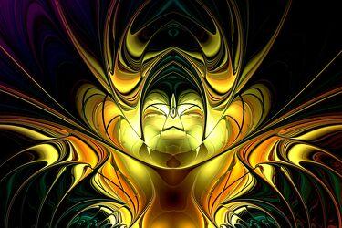 Bild mit Abstrakt, modern, Dynamisch, kreativ, digital, Flame, farbintensiv, visuell, futuristisch, einmalig