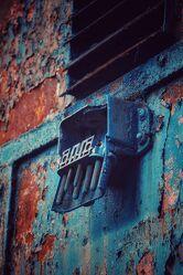 blauer Stecker