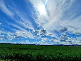 Bild mit Himmel, Wolken, Sommer, Sonne, Schweiz