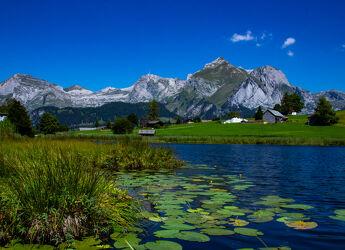 Bild mit Berge und Hügel, Sommer, Bergsee, See, Säntis