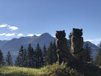Bild mit Berge und Hügel, Berge, Holz, Eulen, Kunstwerk