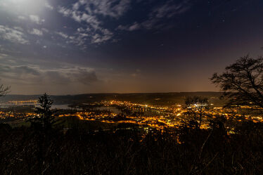 Bild mit Wasser, Panorama, Nachtaufnahme, Schaffhausen