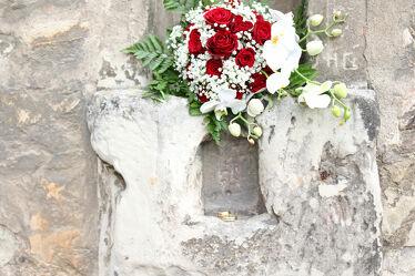Bild mit Blumen, LIEBE/LOVE, Liebe und Herzen, Liebe, Hochzeit, Hochzeitsblumen, Brautstrauß