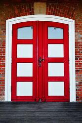 Bild mit Holz, Architektur, tür, wohnzimmer, Bilderrahmen, Cuxhaven, Wanddekoration, Wanddekoration, rot weiß, Geschenk