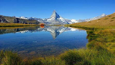 Bild mit Natur, Landschaften, Berge, Reisefotografie, Reise, Schweiz, Spieglungen, Matterhorn, Zermatt