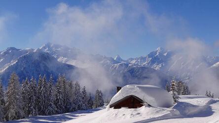 Bild mit Winter, Schnee, winterlandschaft, Schneelandschaften, Jahreszeit, schweizer alpen, Wallis