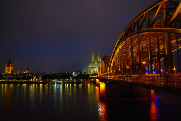 Bild mit Brücke, Köln, Rhein, kölner dom