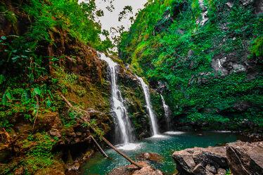 Bild mit Wasserfälle, Reisen, Urwald, Fernreisen, Maui, Tropen, Hawaii