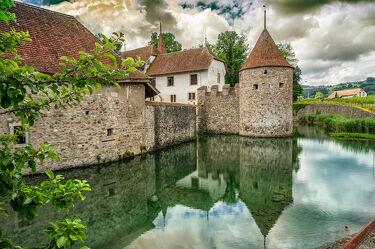 Bild mit Wasser, Landschaften, Schlösser und Burgen, Schloss, Entspannung, Erholung, Reflektionen im Wasser
