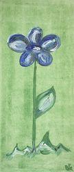 Bild mit Farben, Natur, Pflanzen, Blumen, Blau