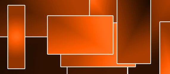 Bild mit Farben,Orange,Abstrakt,Abstrakte Kunst,Retro,70er